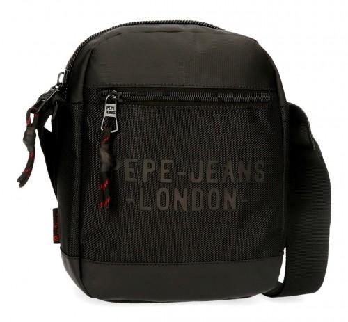7165421 bandolera mediana 22 cm pepe jeans bromley negro