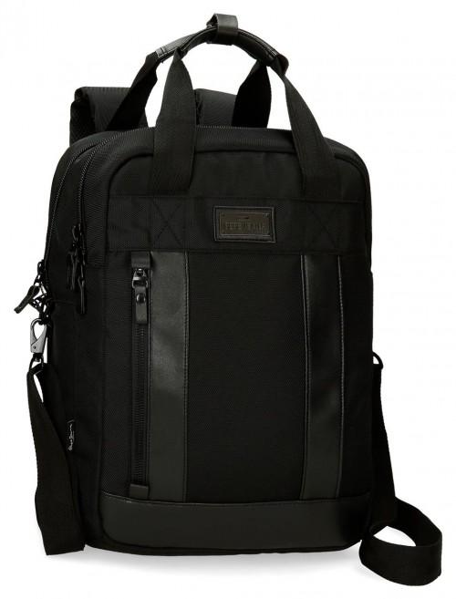 7472461 mochila 42 cm Portaordenador  Pepe Jeans  All Black