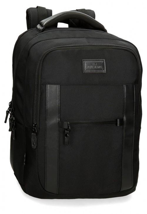 7472561 mochila 44 cm Portaordenador Pepe Jeans All Black