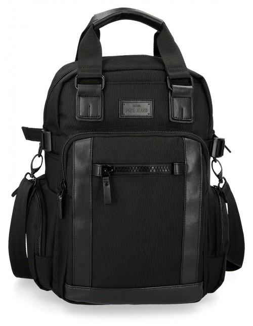 7472661 mochila 41 cm portaordenador Pepe Jeans All Black
