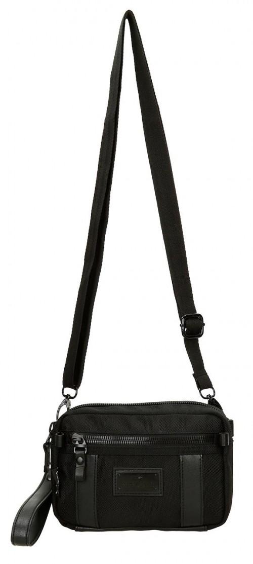 7474261 bolso de mano-riñonera-bandolera pepe jeans all black