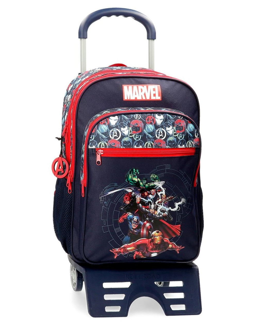 Mochila Grande 44cm Doble C. Avengers Team con Carro 44325T1