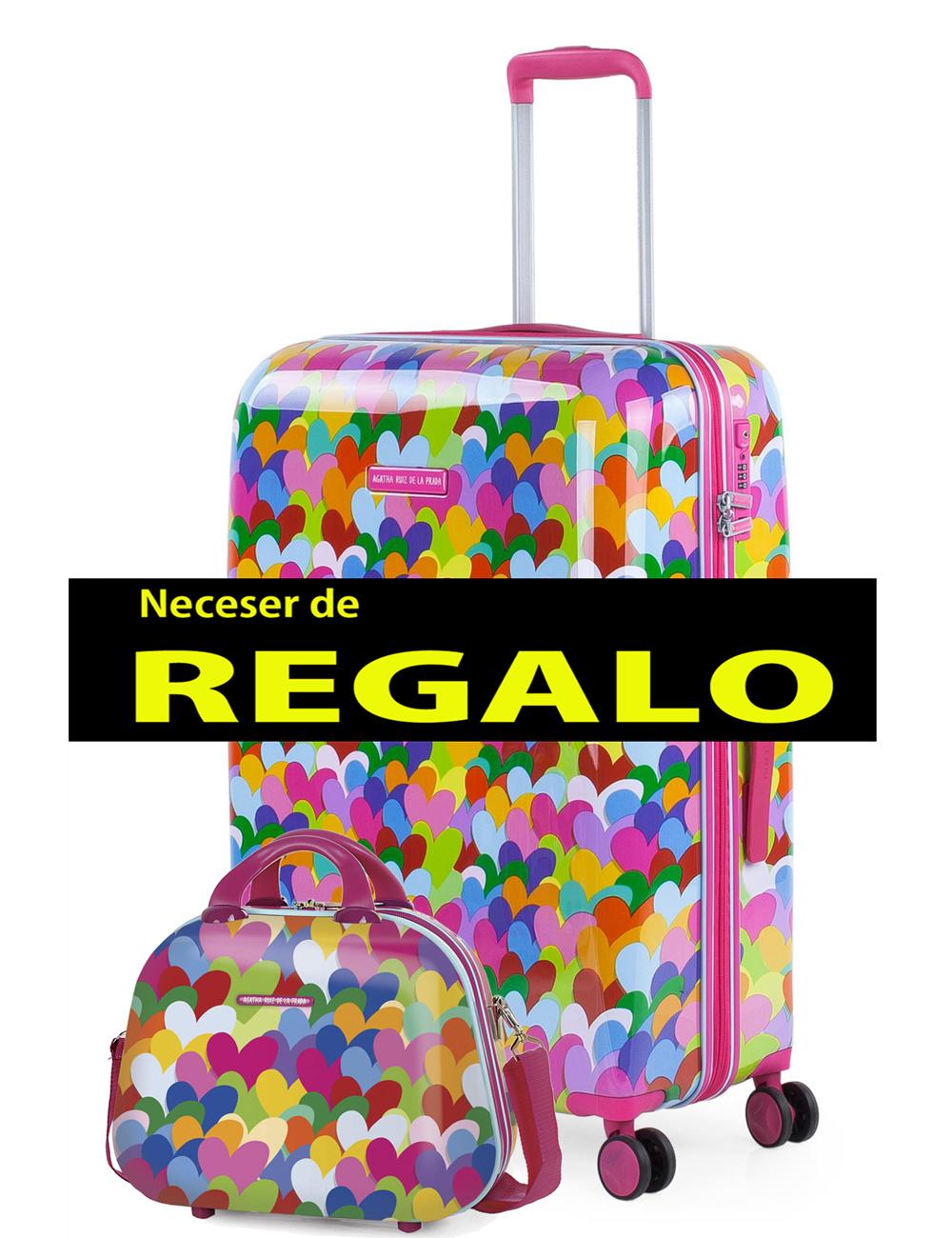 131160 2 Maleta Mediana Agatha Ruiz de la Prada Corazones Colores