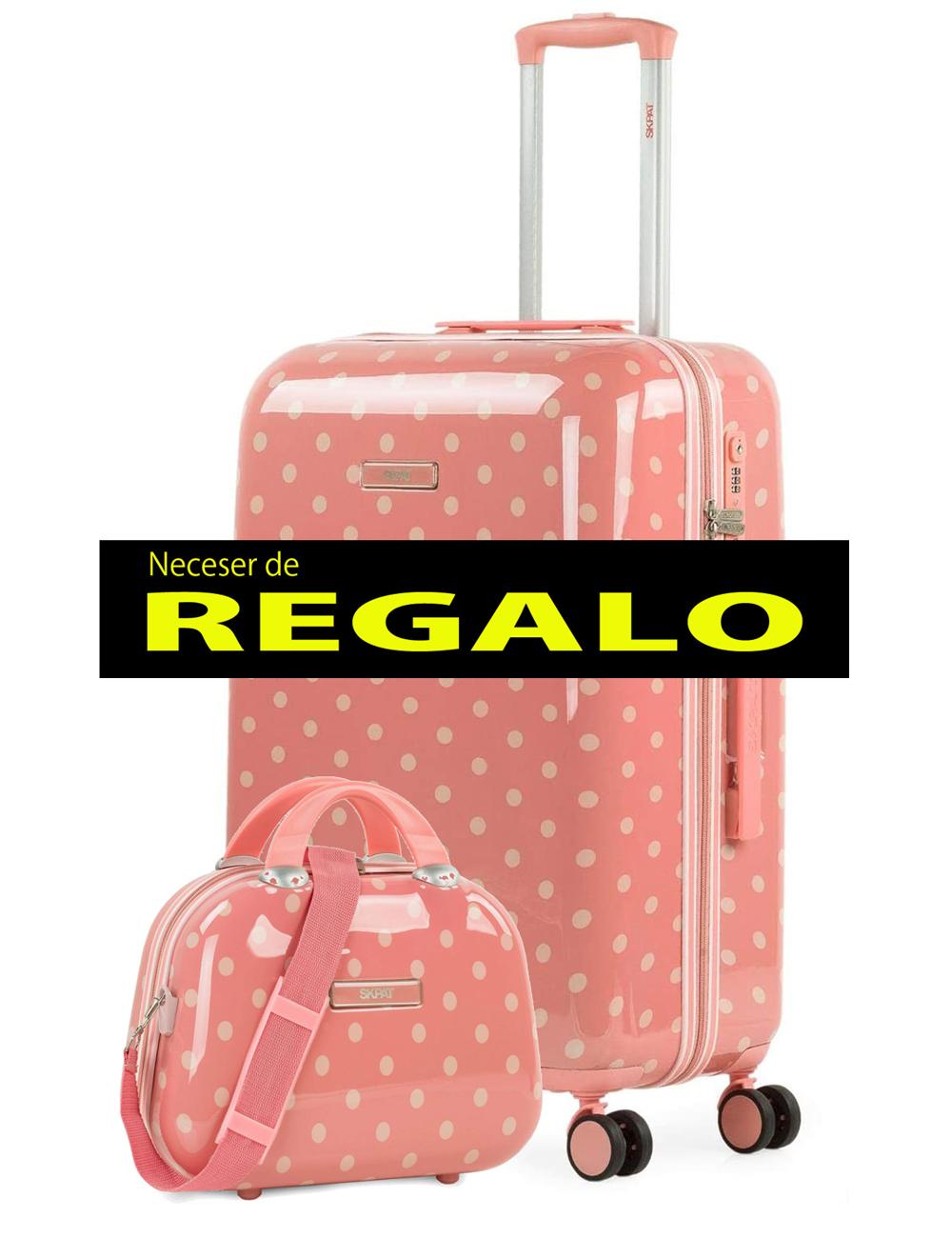 132360B Maleta Mediana Skpat Polka Dots + Neceser de Regalo