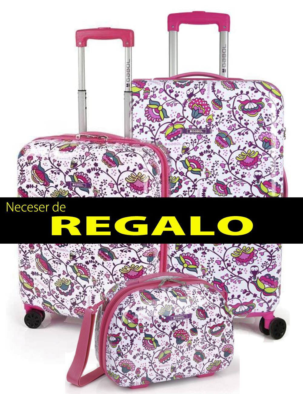 221804 Juego maleta cabina y mediana Gabol magic
