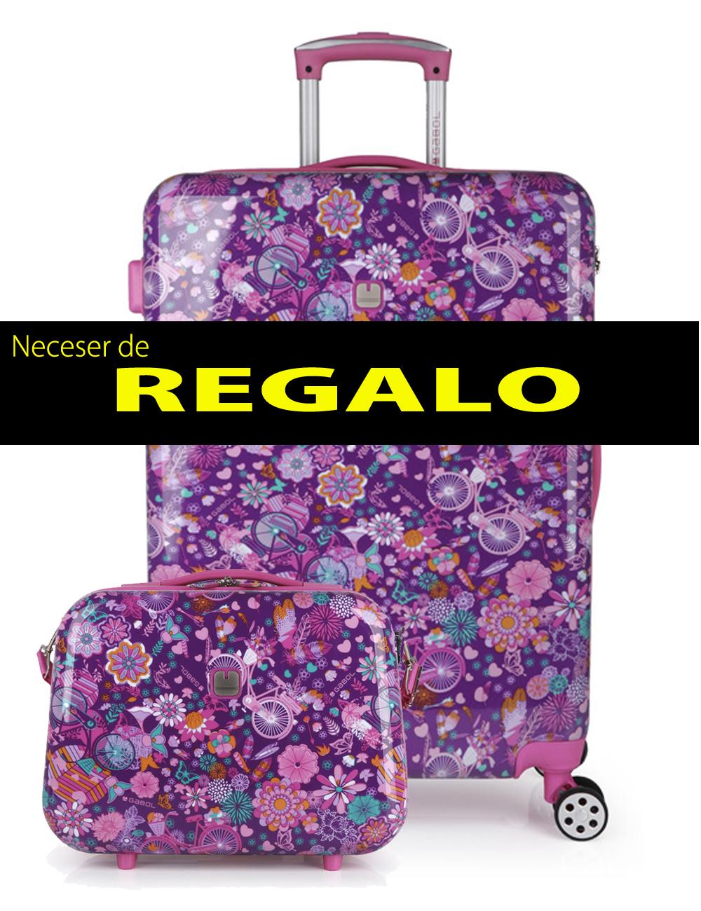226946 N Maleta Mediana más Neceser de Regalo Gabol Abril