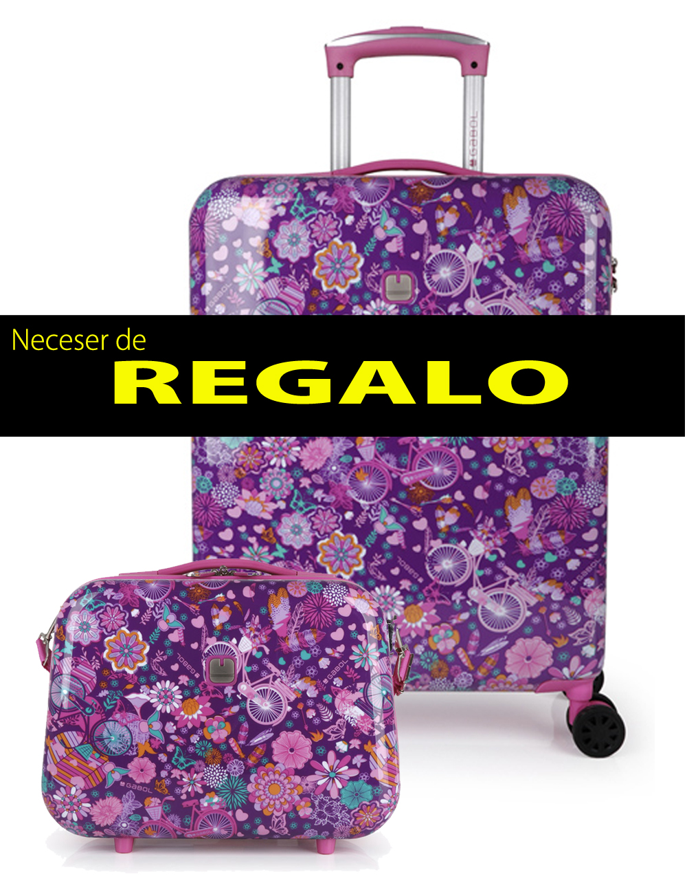 226974 Maleta de Cabina más Neceser de Regalo Gabol Abril