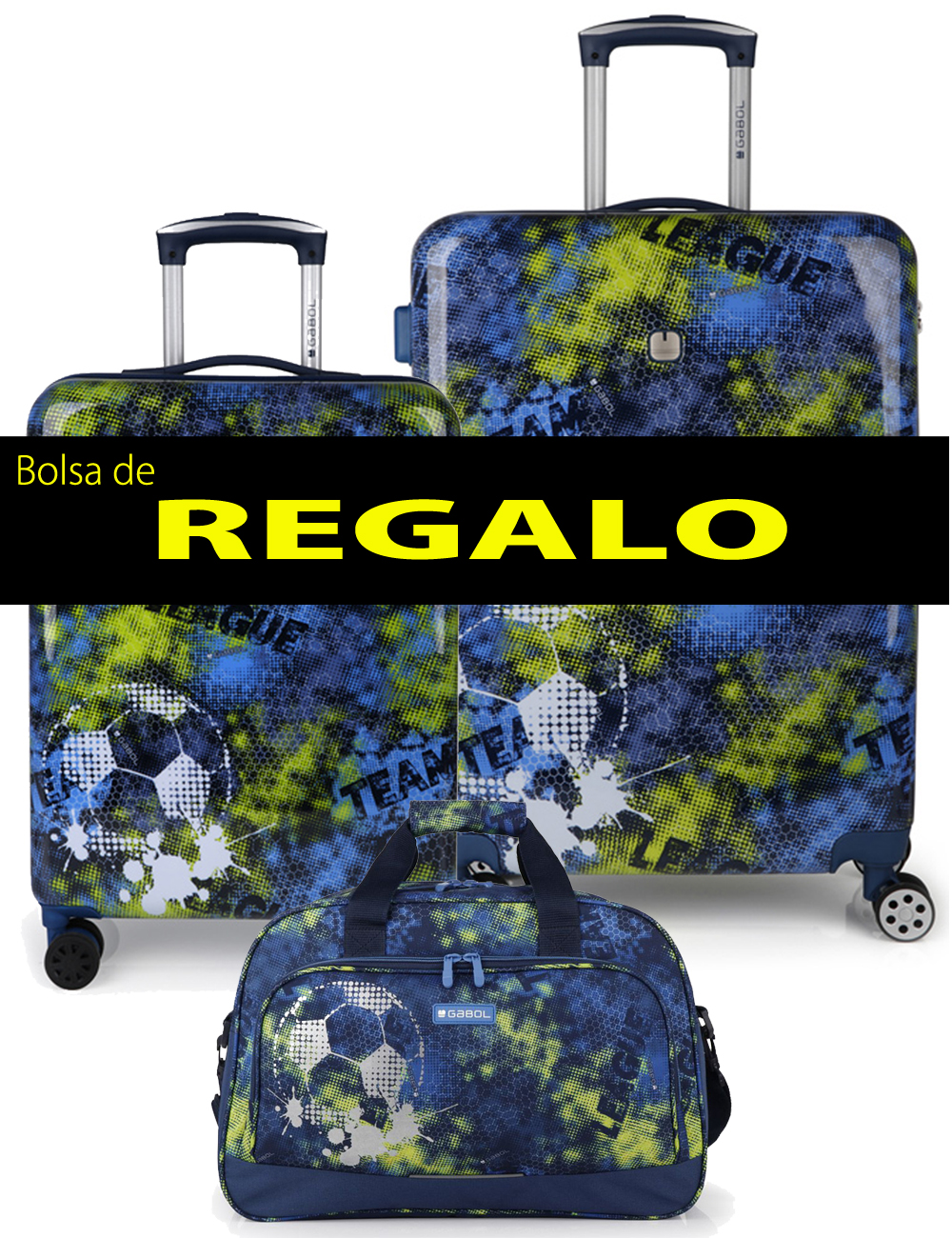 227204 B Juego Maletas Cabina y Mediana más Bolsa de Viaje de Regalo Gabol Coach