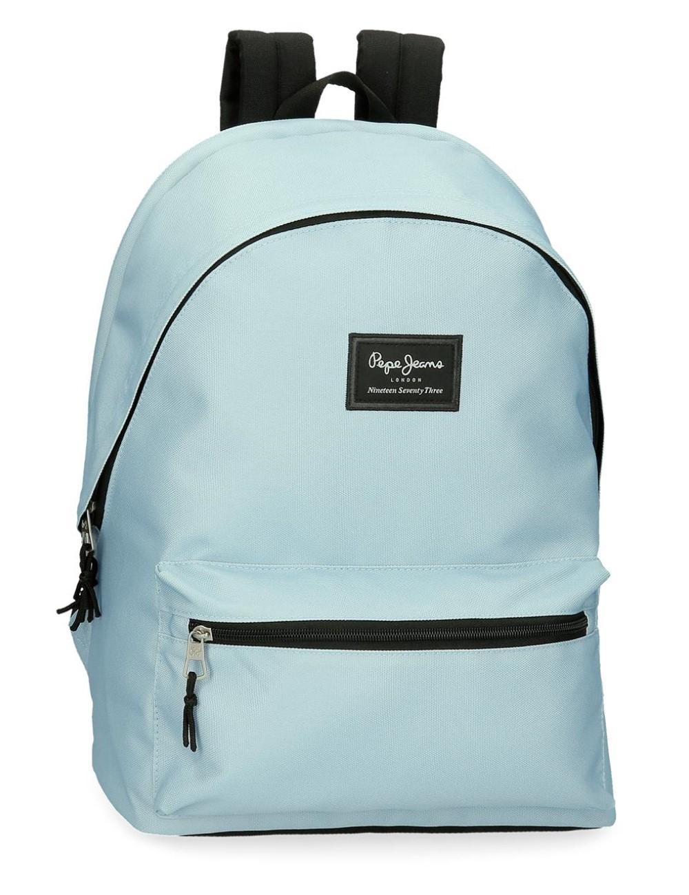 MochilaDoble Compartimento Portaordenador Pepe Jeans Aris Azul Claro 6322428