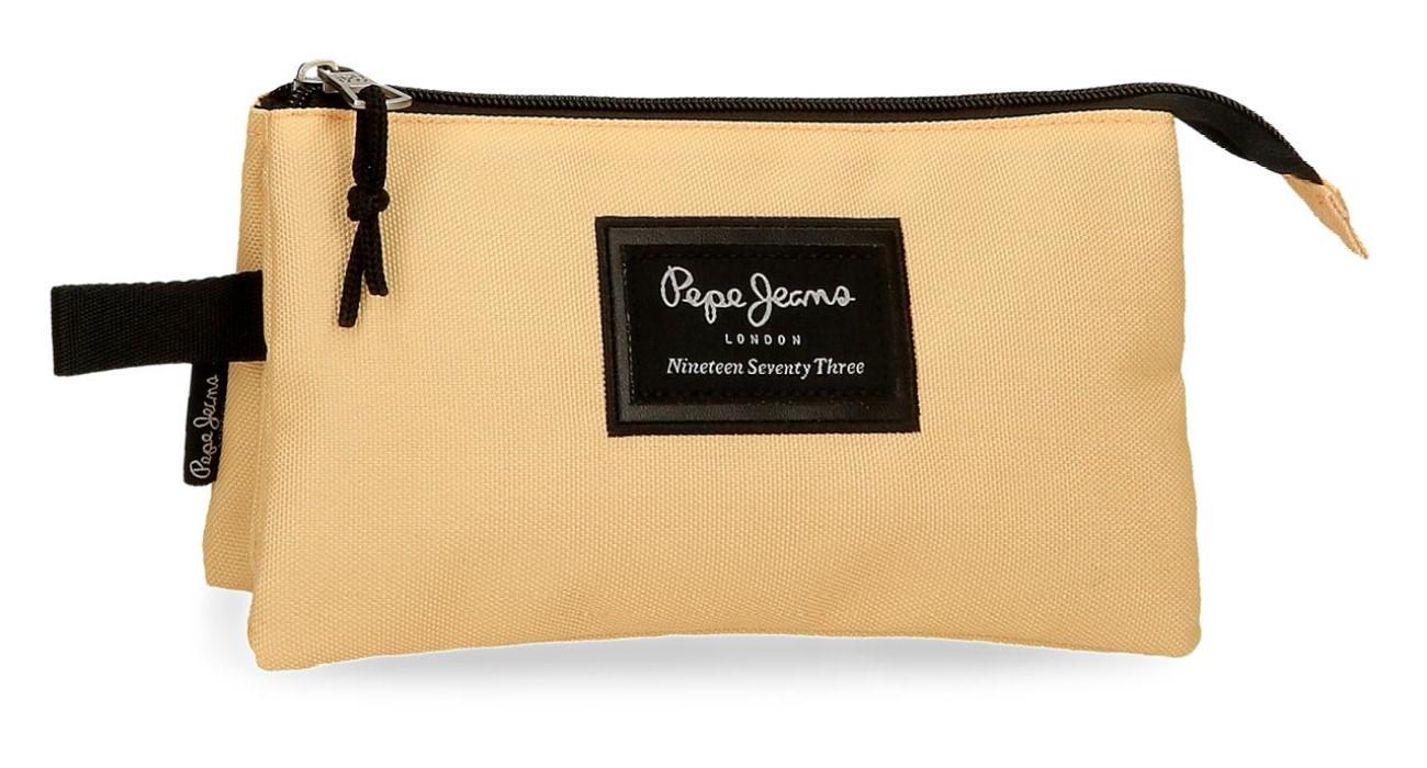 Portatodo Triple Pepe Jeans Aris Amarillo Pastel 6324326
