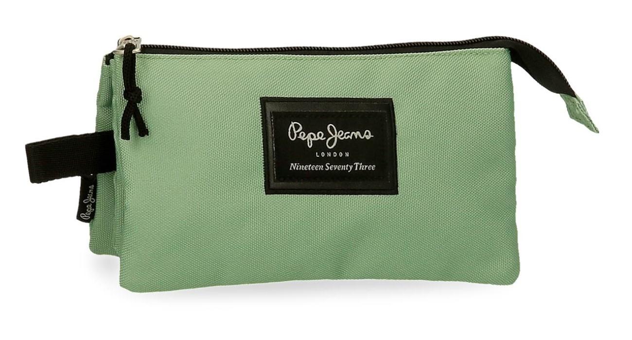 Portatodo Triple Pepe Jeans Aris Verde Claro 6324329