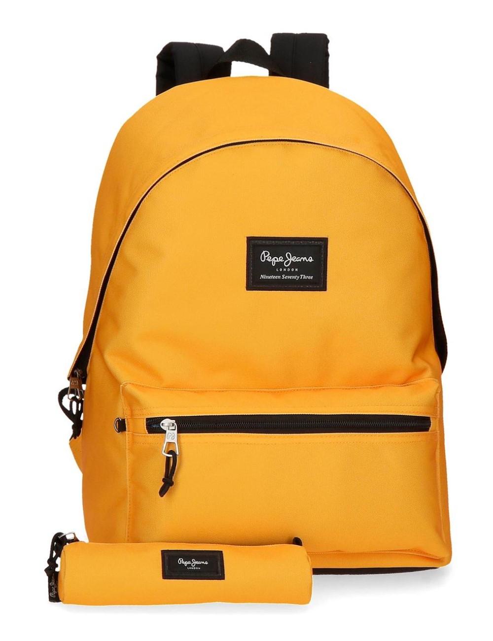 Mochila Un Compartimento Portaordenador + Portatodo Pepe Jeans Colorful Mostaza 6329221