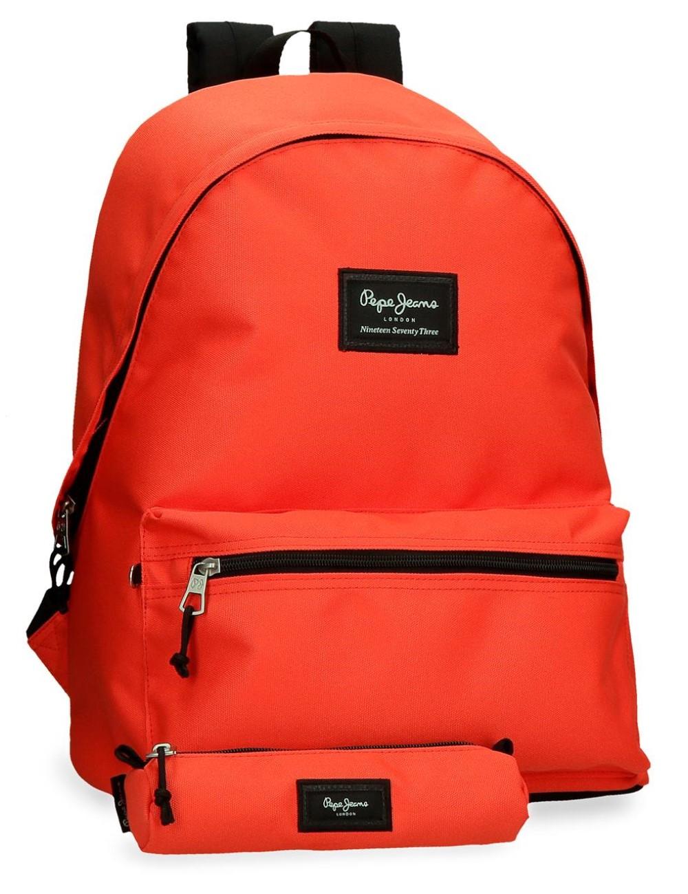 Mochila Un Compartimento Portaordenador + Portatodo Pepe Jeans Colorful Naranja 6329222