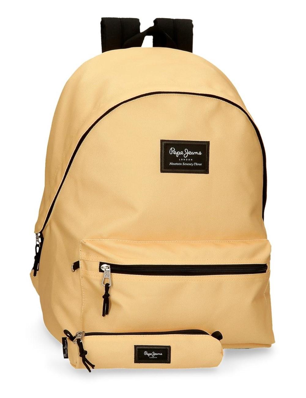 Mochila Portaordenador + Portatodo Pepe Jeans Colorful Amarillo Pastel 6329226