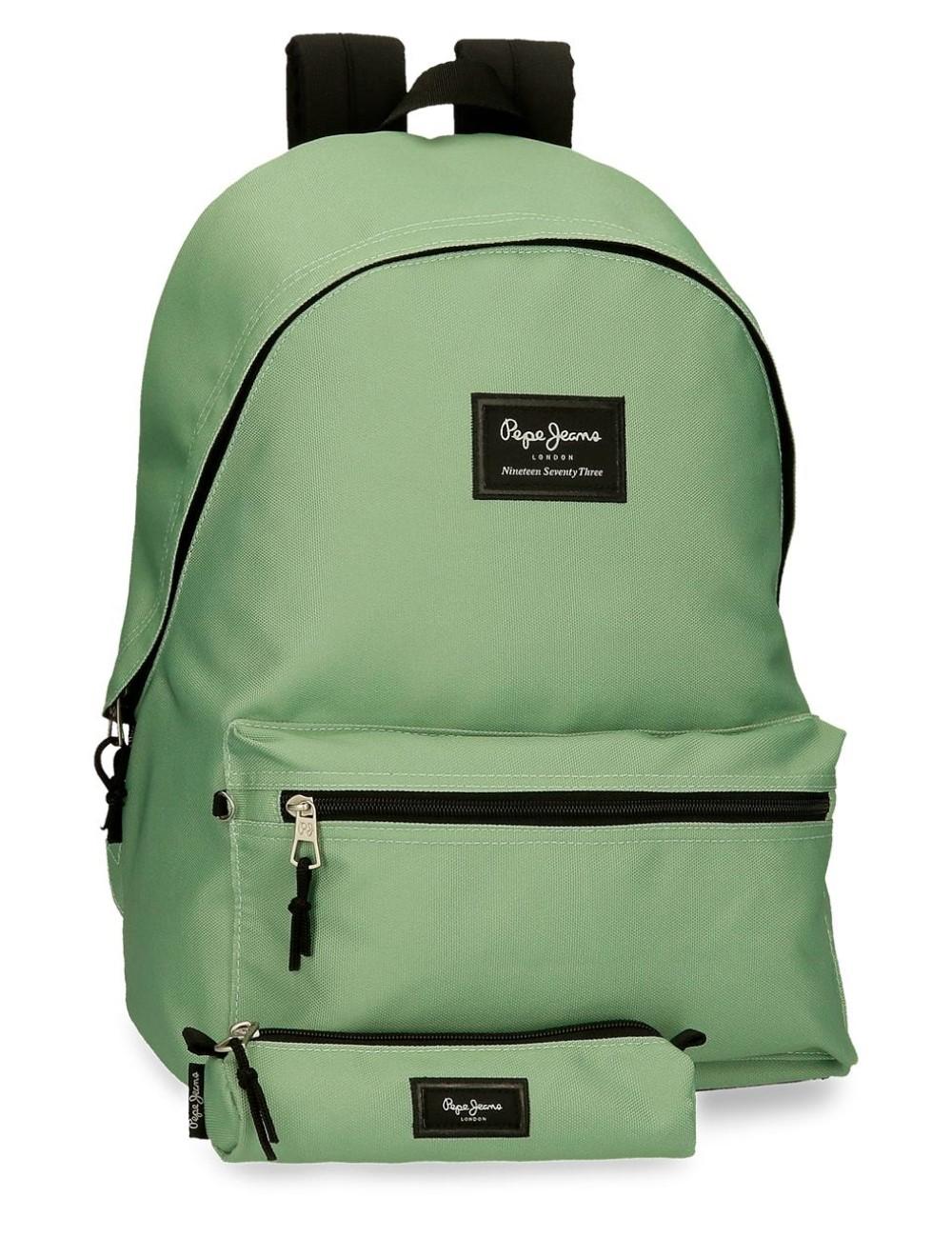 Mochila Portaordenador + Portatodo Pepe Jeans Colorful Verde Claro 6329229
