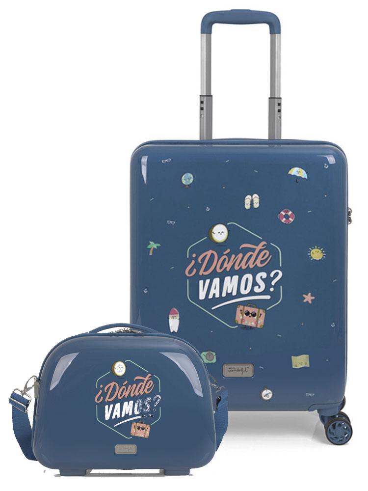 91903074 Maleta Cabina y Neceser Colección Dónde Vamos MR. WONDERFUL