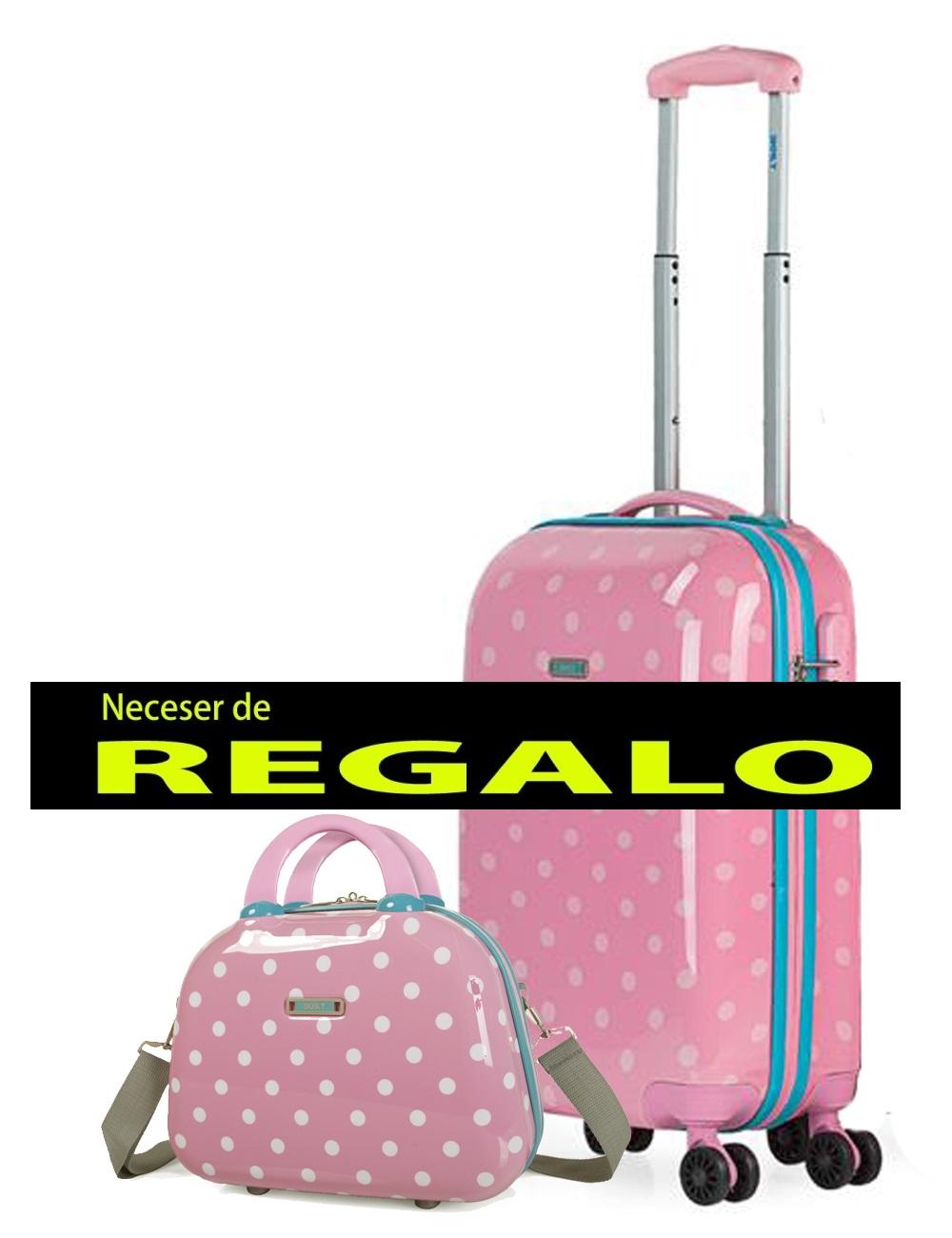 66450B-02 Maleta Cabina y Neceser Skpat Topos Rosa
