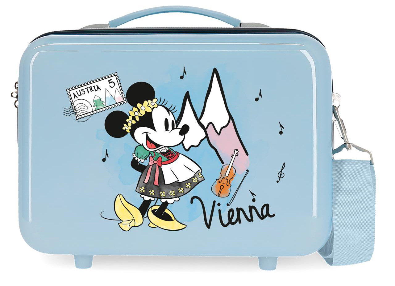 2283921 Neceser Lets Travel Minnie Vienna Azul Claro
