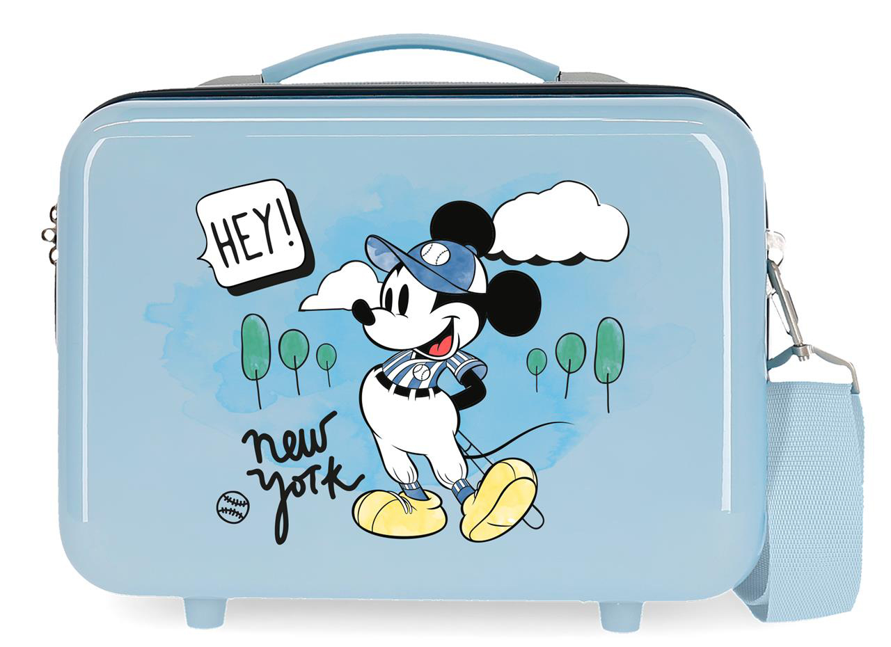2283923 Neceser Lets Travel Mickey New York Azul Claro