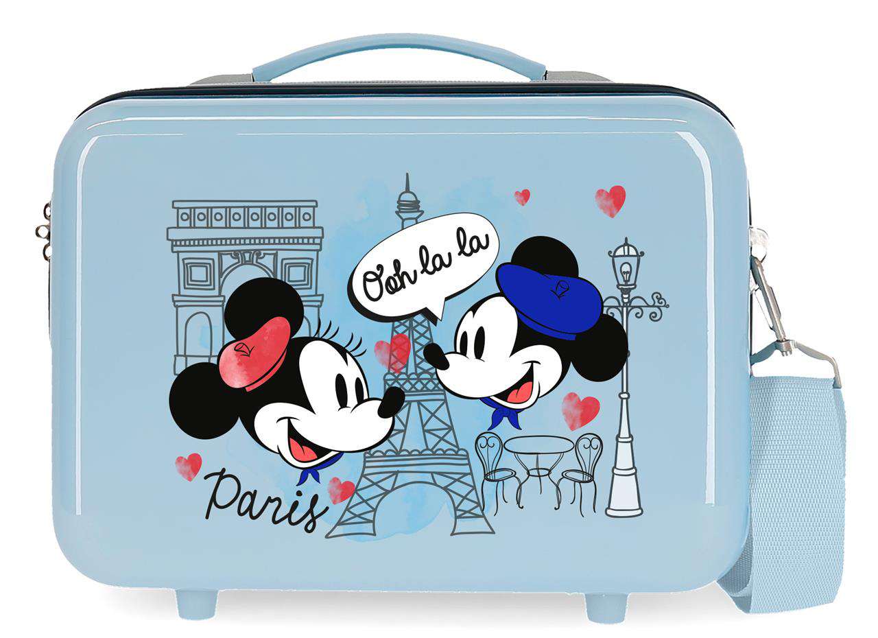 2283924 Neceser Lets Travel Mickey & Minnie Paris Azul Claro