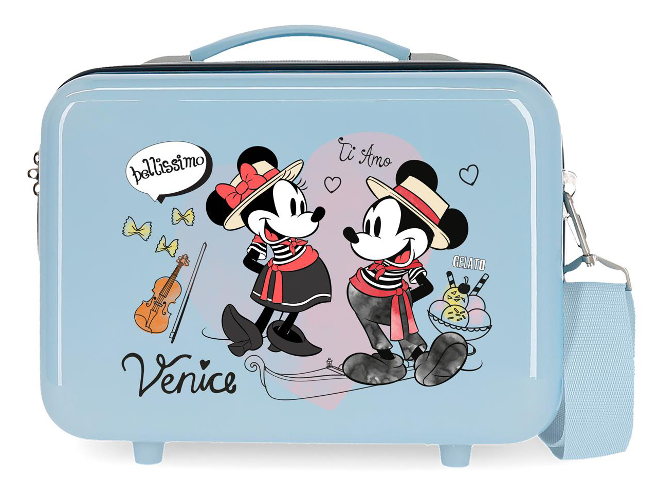 2283925 Neceser Lets Travel Mickey & Minnie Venice Azul Claro