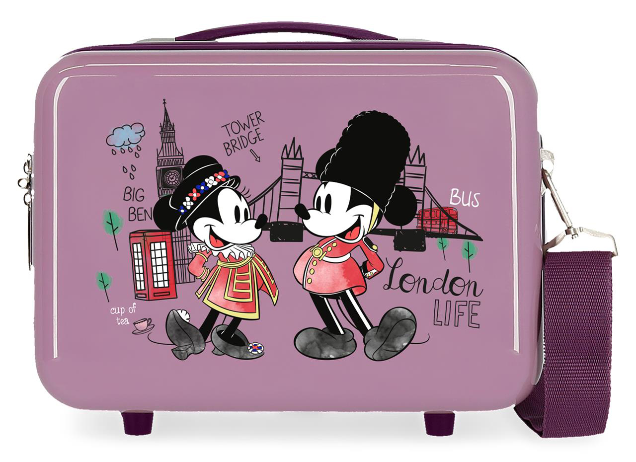 22839A6 Neceser Lets Travel Mickey & Minnie London Nude
