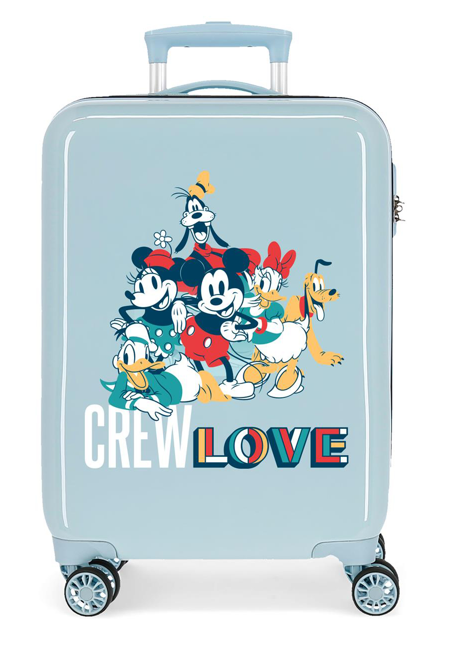 2321722 Maleta Cabina Mickey Crew Love Azul Claro
