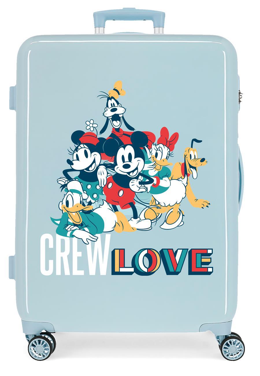 2321822 Maleta Mediana Mickey Crew Love Azul Claro
