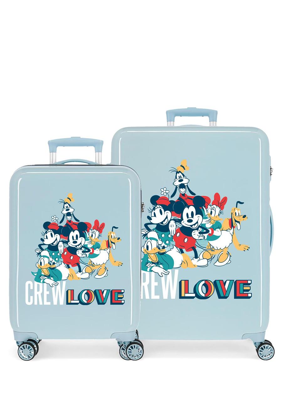 2321922 Juego Maletas Cabina y Mediana Mickey Crew Love Azul