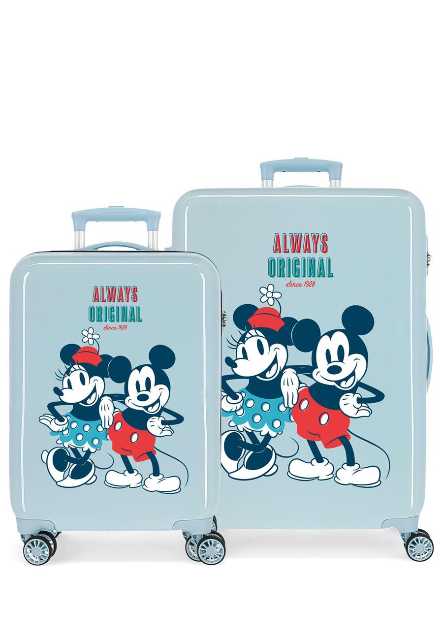 2321924 Juego Maletas Cabina y Mediana Mickey Always Origina Zaul Claro