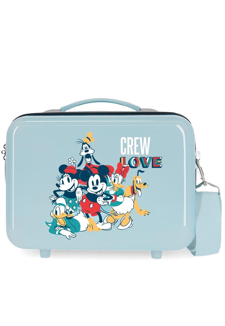 2323922 Neceser Mickey Crew Love Azul Claro