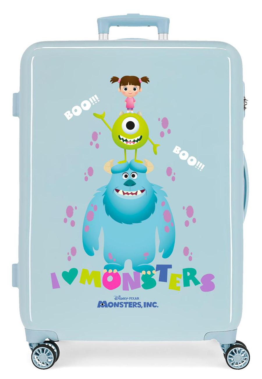 2451863 Maleta Mediana Monster Boo! Azul Claro