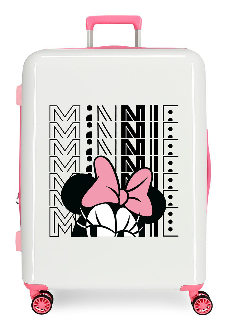 3419423 Maleta Mediana Pretty Minnie Lazo Rosa