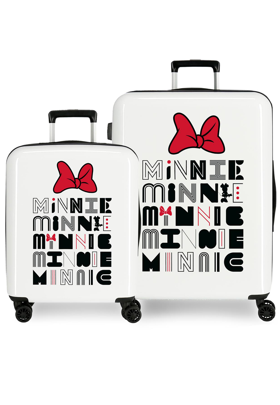3419724 Juego Maletas Cabina y Mediana Pretty Minnie Lazo