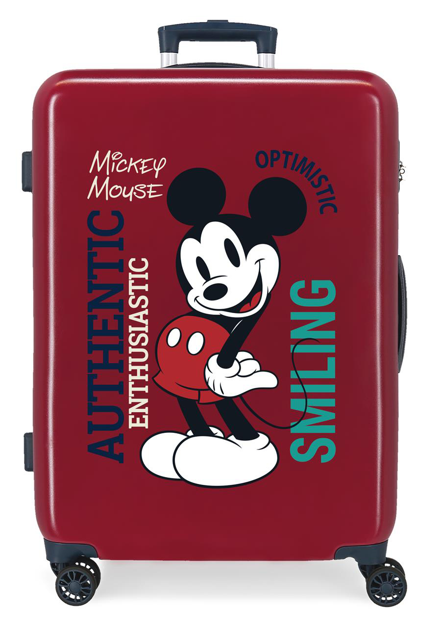 3421821 Maleta Mediana Mickey Original Authentique Granate