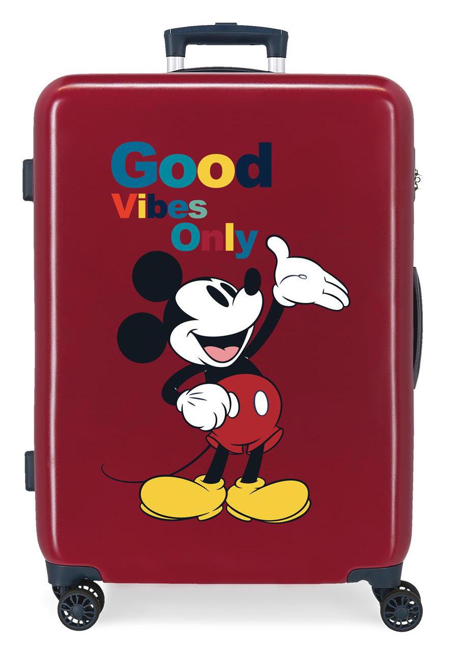 3421822 Maleta Mediana Mickey Original Good Vibes Only Granate