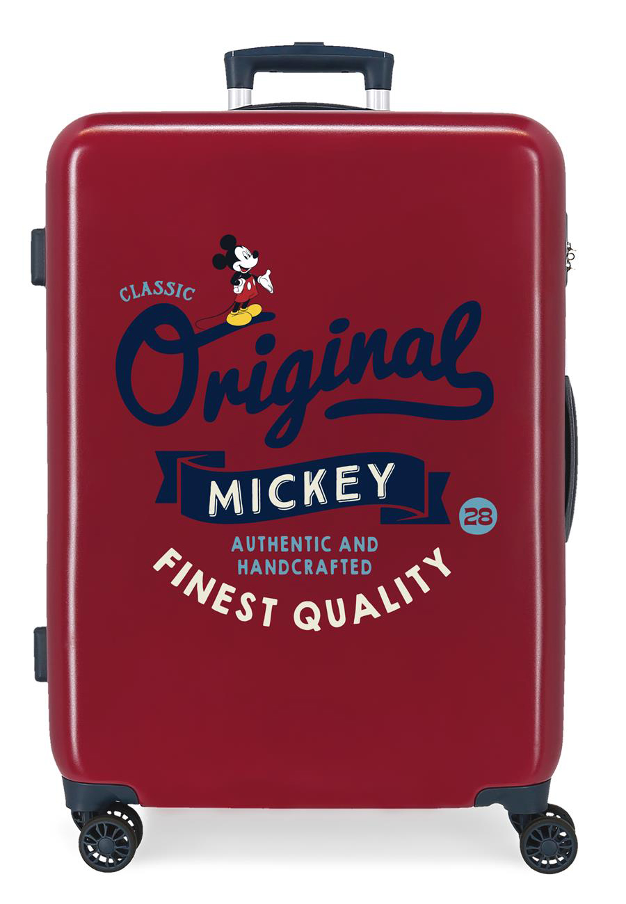 3421824 Maleta Mediana Mickey Original Classic Granate