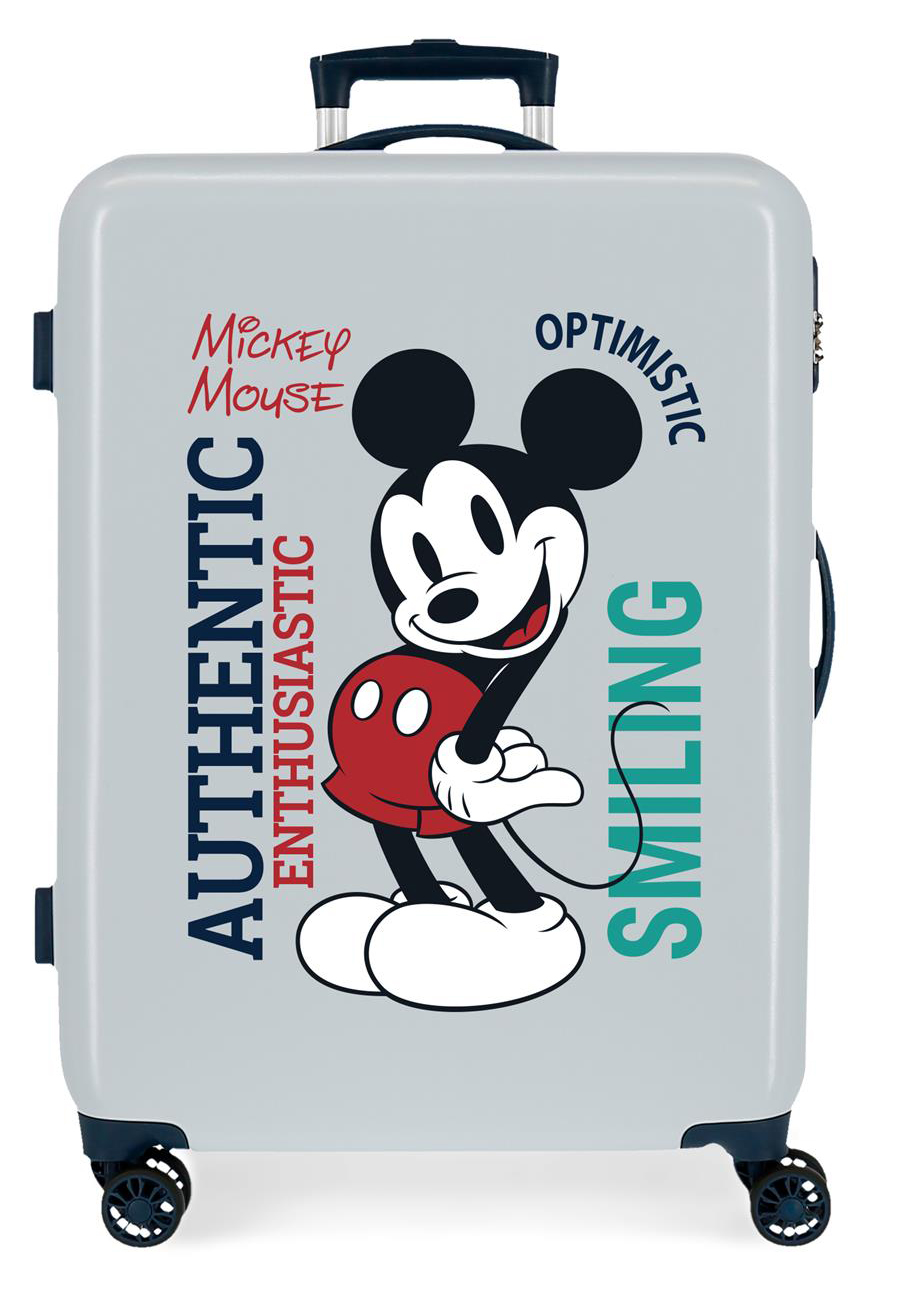 3421825 Maleta Mediana Mickey Original Authentique Azul