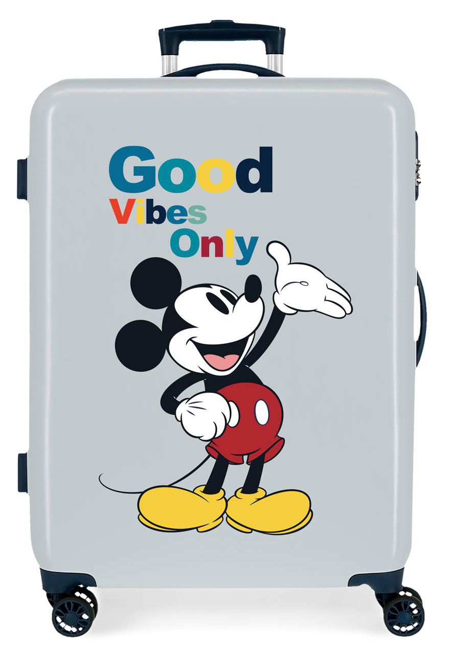 3421826 Maleta Mediana Mickey Original Good Vibes Only Azul