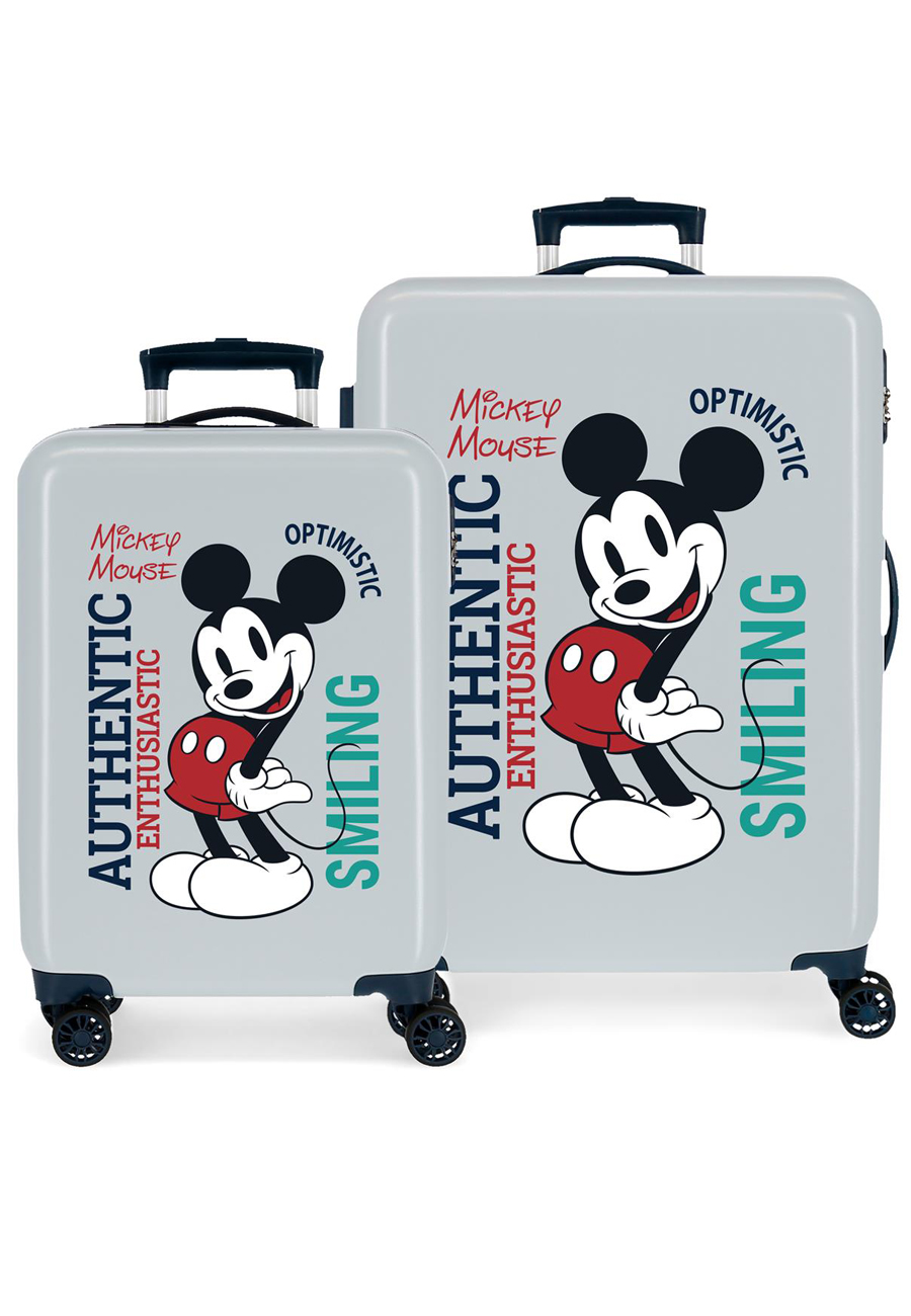 3421925 Juego Maletas Cabina y Mediana Mickey Original Authentic Azul