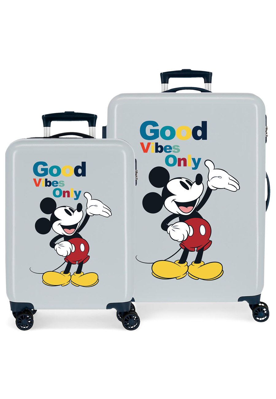 3421926 Juego Maletas Cabina y Mediana Mickey Original Good Vives Only Azul