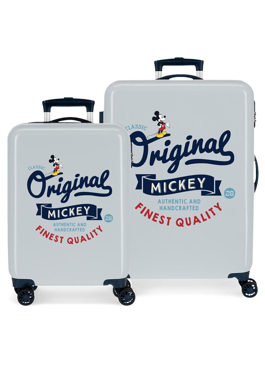 3421928 Juego Maletas Cabina y Mediana Mickey Original Classic Azul