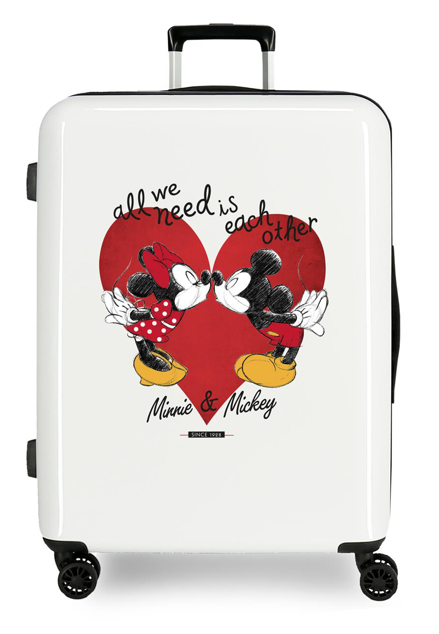 4399422 Maleta Mediana Mickey & Minnie Love