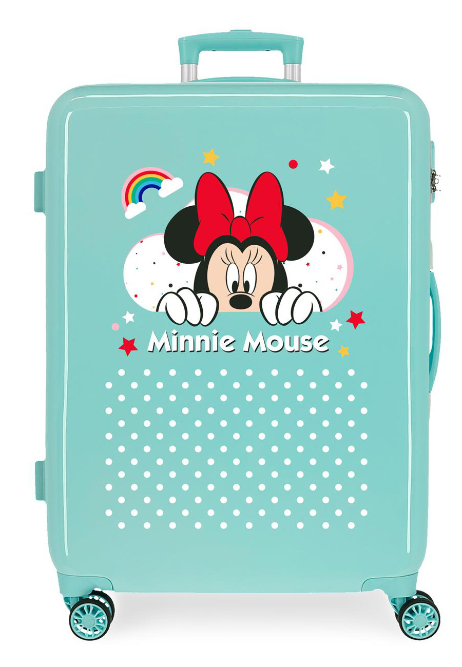 4771862 Maleta Mediana Minnie Rainbow Turquesa