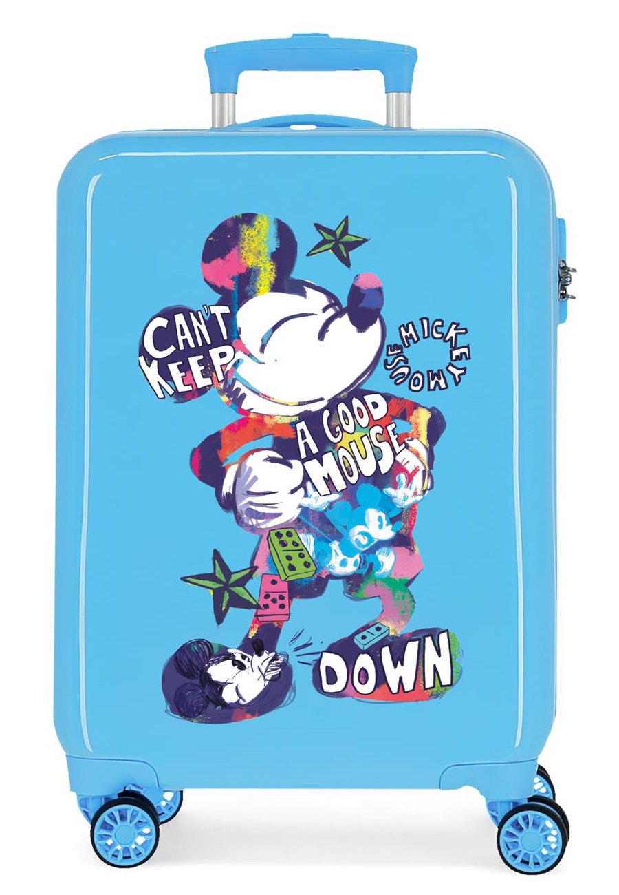 2341722 Maleta Cabina Mickey Can´t Keep A Good Mouse Down Azul