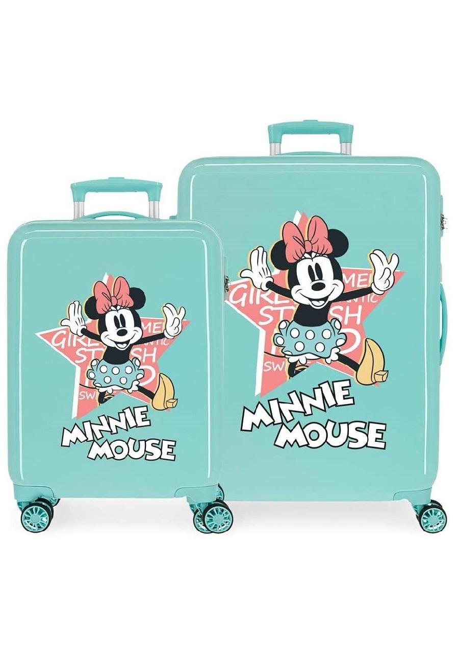 2341925 Juego Maletas Cabina y Mediana Thats Easy Minnie Mouse Turquesa
