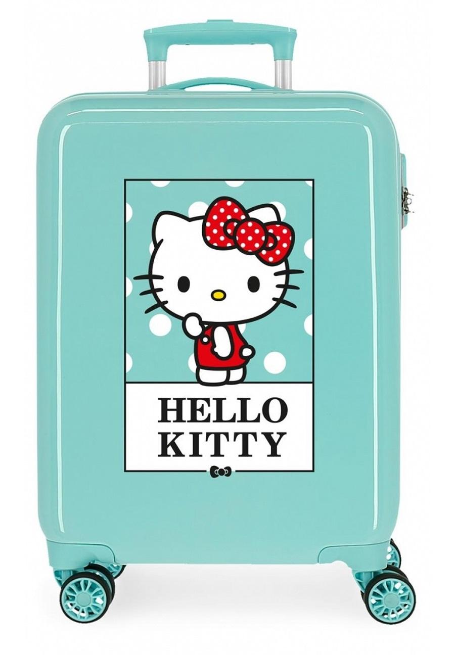 3191724 Maleta Cabina Hello Kitty Bow Of Hello Kitty Turquesa