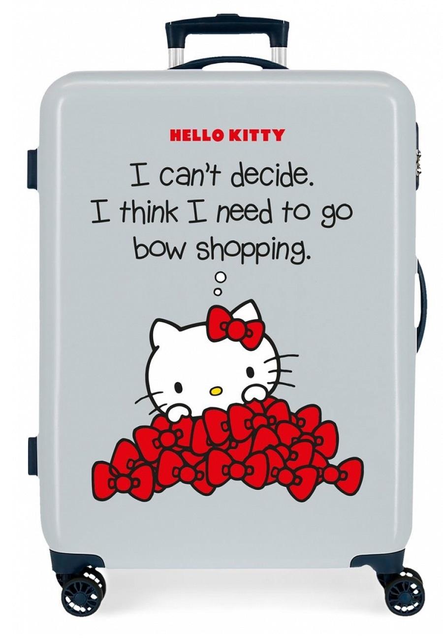 3191823 Maleta Mediana Hello Kitty Bow Of Hello Kitty Azul