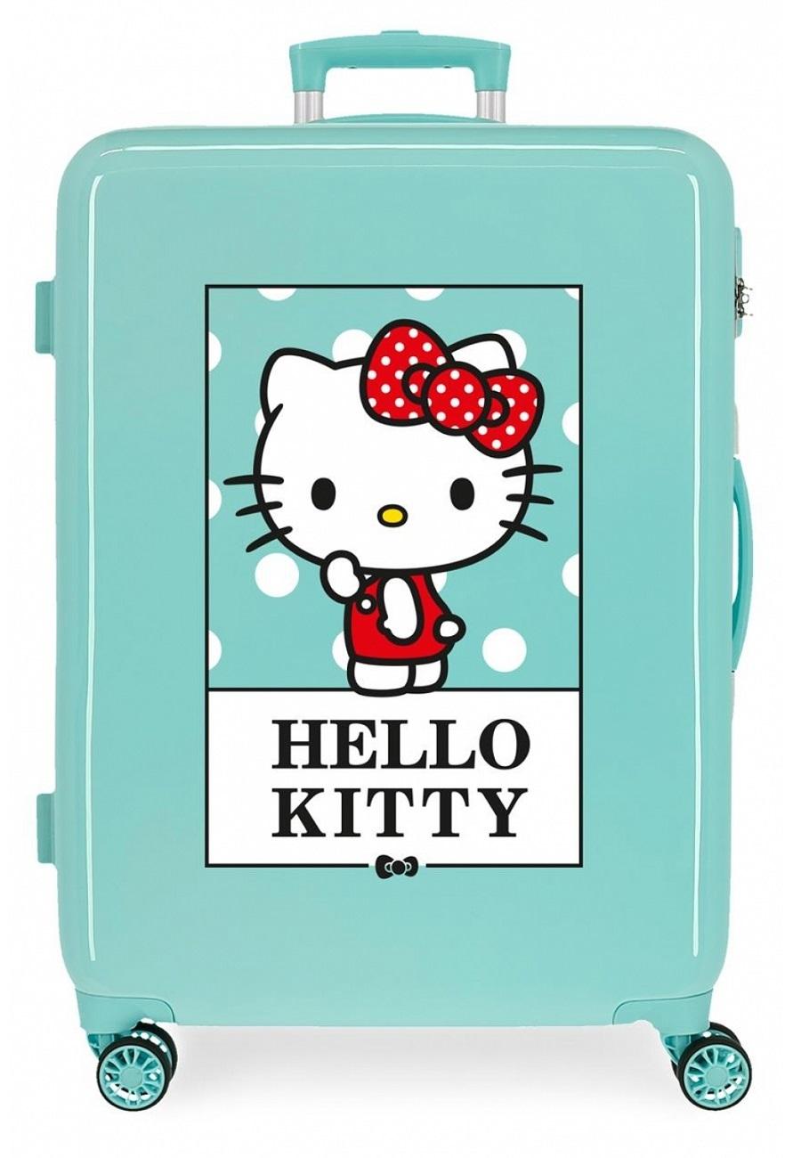 3191824 Maleta Mediana Hello Kitty Bow Of Hello Kitty Turquesa