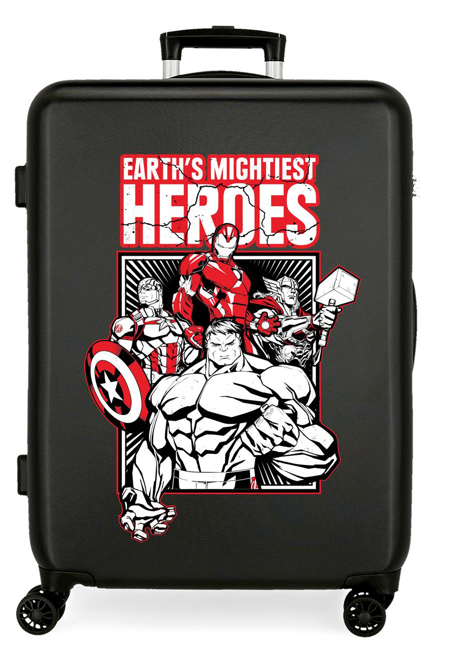 3431821 Maleta Mediana Earth´s Mightiest Heroes Negro